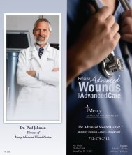 The Advanced Wound Center Dr. Paul Johnson - Mercy Medical ...