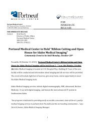 Ribbon Cutting and Open House for Idaho Medical Imaging