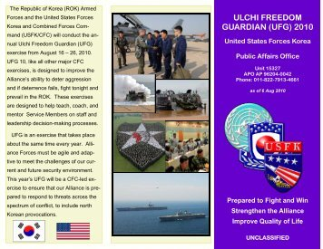 ulchi freedom guardian (ufg) 2010 - United States Forces Korea