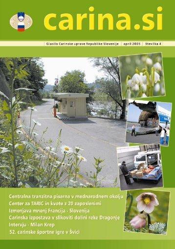 Åtevilka 4, april 2005 - Carinska uprava Republike Slovenije