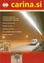 Åtevilka 3, december 2004 - Carinska uprava Republike Slovenije