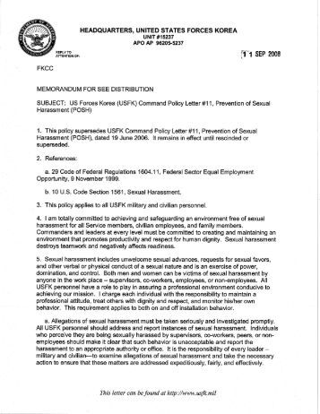 Fort Stewart Policy Letter