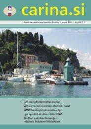 Åtevilka 5, avgust 2005 - Carinska uprava Republike Slovenije