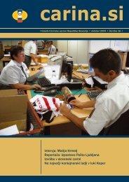 Åtevilka 16, oktober 2009 - Carinska uprava Republike Slovenije