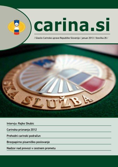 Åtevilka 26, januar 2013 - Carinska uprava Republike Slovenije