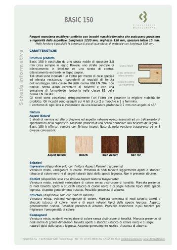 SP 57.1 - Scheda informativa Basic 150 - Listone Giordano