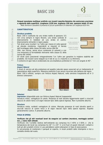 SP 57 - Scheda informativa Basic 150 - Listone Giordano