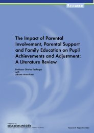 The Impact of Parental Involvement, Parental Support and ... - BGfL