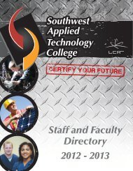 Staff and Faculty Directory 2012 - 2013 - Southwest Applied ...