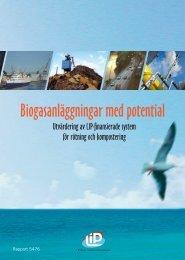 Biogasanläggningar med potential - utvärdering av ... - BOFFE.COM