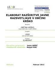 ELABORAT RAZŠIRITVE JAVNE RAZSVETLJAVE V ... - Občina Krško