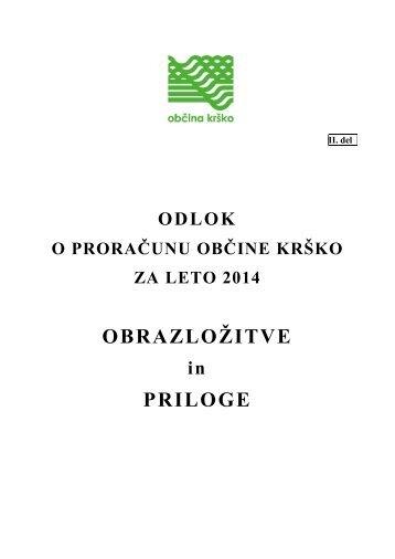 OBRAZLOŽITVE PRILOGE - Občina Krško