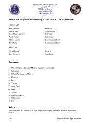 Referat fra Bestyrelsesmøde Onsdag d.13/10 2010 KL. 16.30 på ...
