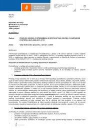 Pripombe k predlogu Zakona o spremembah in dopolnitvah Zakona ...