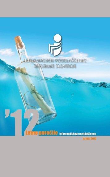 Letno poročilo za leto 2012 - Informacijski pooblaščenec