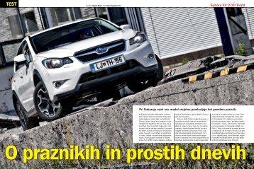 Prenesi PDF testa Subaru XV 2.0D Trend (2012) - Avto Magazin