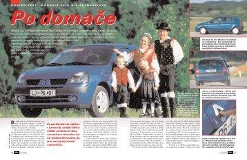 Prenesi PDF testa Renault Renault Clio 1.2. 16V ... - Avto Magazin