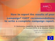 How to report the results of your campaign? CAST ...