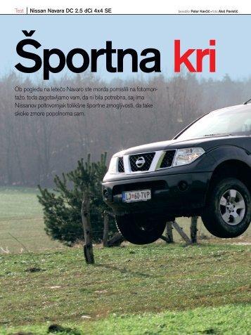 Prenesi PDF testa Nissan Nissan Navara DC 2.5 dCi ... - Avto Magazin