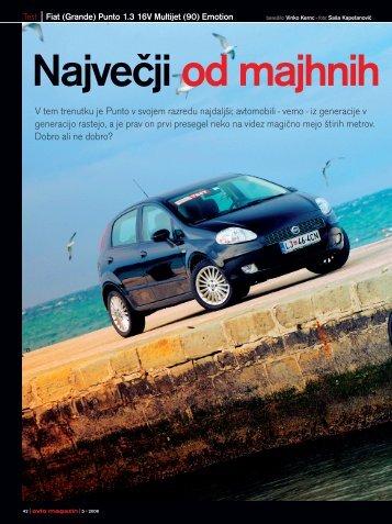 Prenesi PDF testa Fiat Fiat Grande Punto 1.3 16V ... - Avto Magazin
