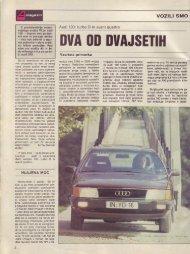 Prenesi PDF testa Audi Audi 100 turbo D in Avant ... - Avto Magazin