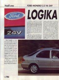 Prenesi PDF testa Ford Ford Mondeo 2.5 V6 24 - Avto Magazin