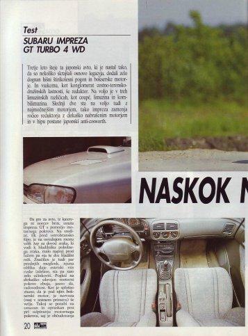 Prenesi PDF testa Subaru Subaru Impreza GT Turbo ... - Avto Magazin