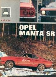 Prenesi PDF testa Opel Opel Manta SR - Avto Magazin