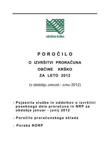 v obdobju januar - junij 2012 - Občina Krško