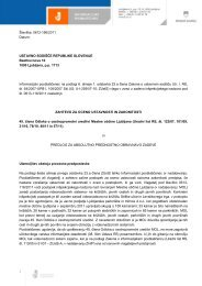 Zahteva za oceno ustavnosti in zakonitosti 45. člena Odloka o ...