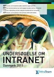 Undersøgelse om intranet - Danmark 2011 - IntraTeam