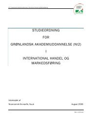 Studieordning for International Handel og Markedsføring