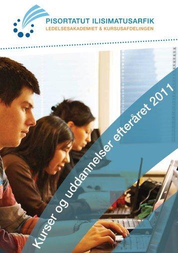 komplette kursusoversigt - Grønlands Handelsskole