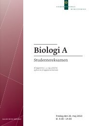 Biologi A, stx, den 28. maj 2010 (pdf) - Undervisningsministeriet