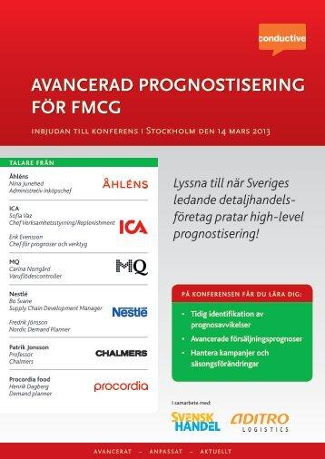 AVANCERAD PROGNOSTISERING FöR FMCG - Conductive