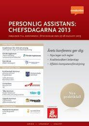 chefsdagarna 2013 2013 personlig assistans: tans - Conductive