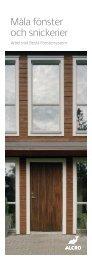 Måla fönster och snickerier