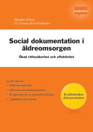 Social dokumentation i äldreomsorgen - Conductive