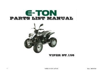 Yukon Cxl 150 shop Manual