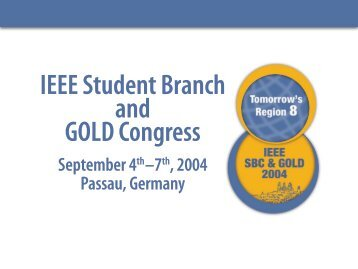 IEEE Student Branch and GOLD Congress