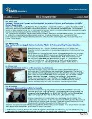 BCC Newsletter - binus university