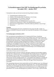 Verksamhetsrapport från LRF Norrlandsgrupp för ... - Norrmejerier