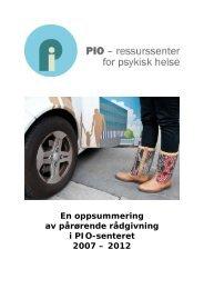 Rapport over rådgivning - 2007-2012.pdf - Erfaringskompetanse.no