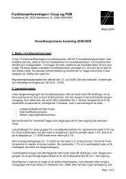 Hovedbestyrelsens beretning 2008/2009 - Funktionærforeningen i ...
