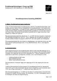 Hovedbestyrelsens beretning 2009/2010 - Funktionærforeningen i ...