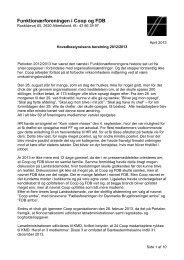 Beretning 2012/2013 - Funktionærforeningen i COOP Danmark