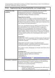 ISAG – Implementering af Samarbejdsaftale om Genoptræning - SCKK