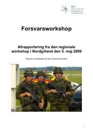Afrapportering fra Nordjylland (pdf) - SCKK