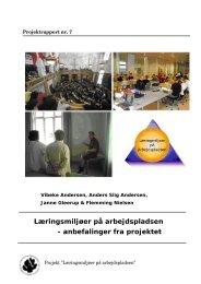 Læringsmiljøer på arbejdspladsen - anbefalinger fra projektet - SCKK