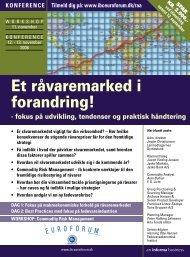 Et råvaremarked i forandring! - IBC Euroforum